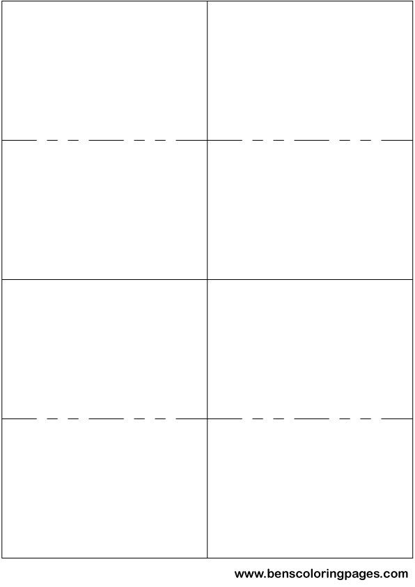 Printable small flashcard template papiri, šabloni Pinterest - postcard templates free