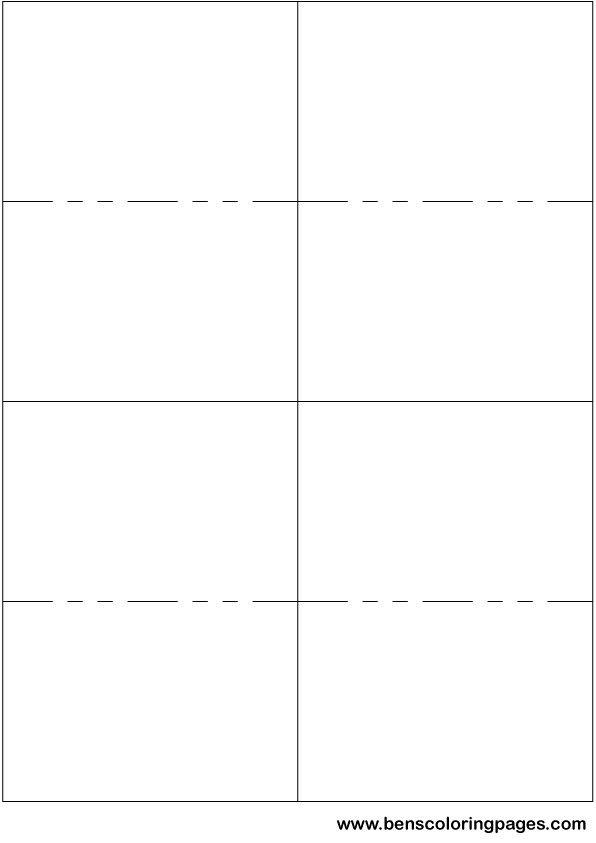 Printable Small Flashcard Template Papiri šabloni
