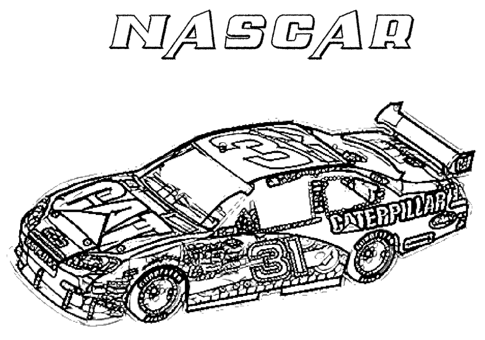 Race Car Coloring Pages Printable Free : Simple race car coloring pages only