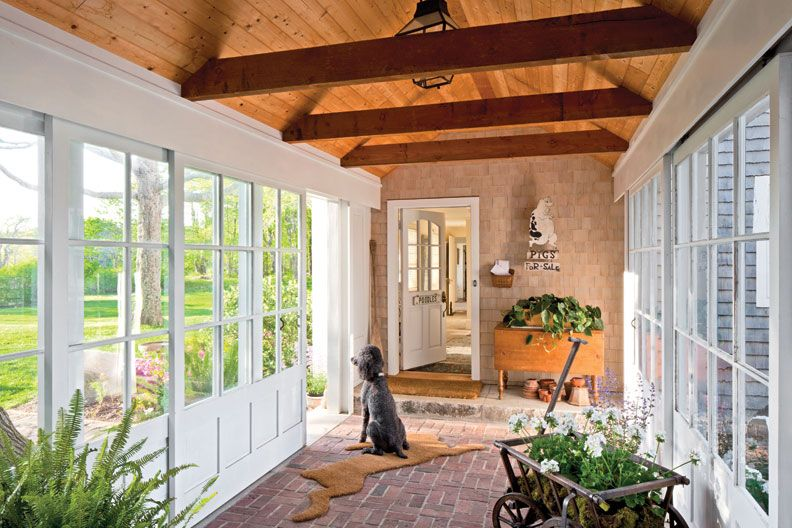 Preserving A Summer Home In Maine Breezeway Glass
