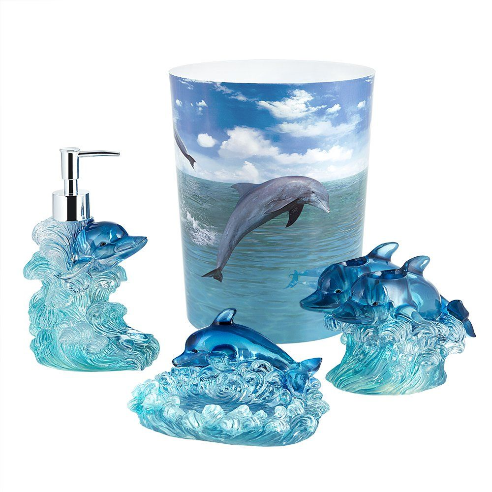 Dolphin Jump For Joy 4 Piece Bathroom
