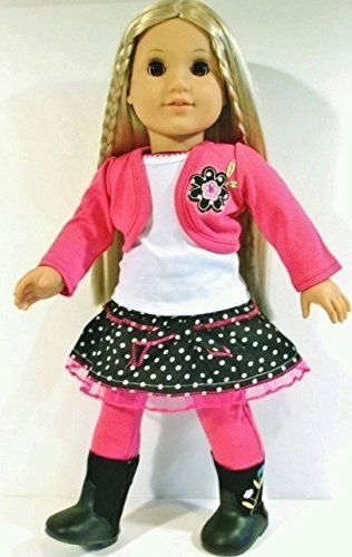 Pink /& White Polka Dot Skirt For 18 Inch American Girl Doll Clothes