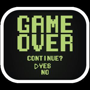 Retro Screen Game Over Game Over Screen Retro Games