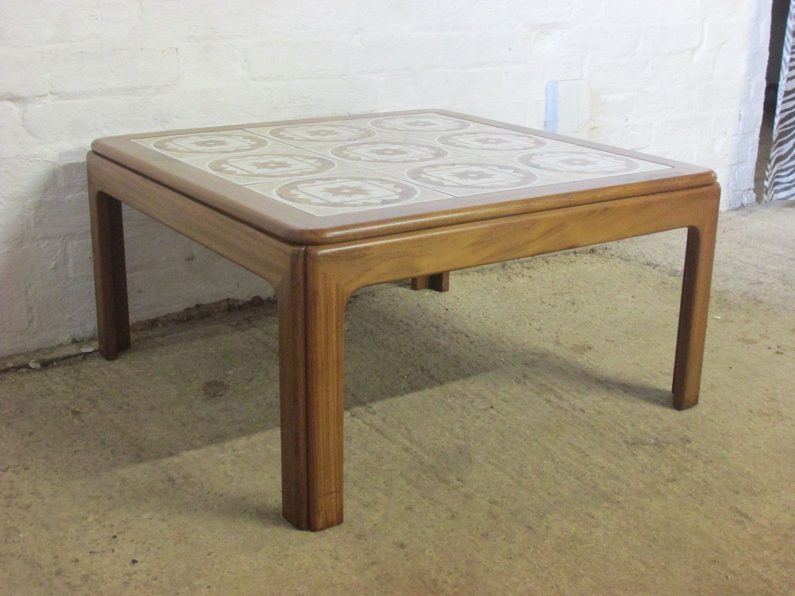 Retro 1960s 1970s G Plan Teak And Tile Top Small Square Coffee