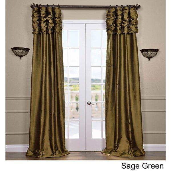 Exclusive Fabrics Signature Thai Silk 108-inch Curtain