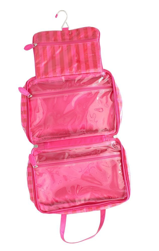 485af44ac72b Victoria's Secret Make Up Cosmetic Red Pink Stripe Hanging Organizer ...