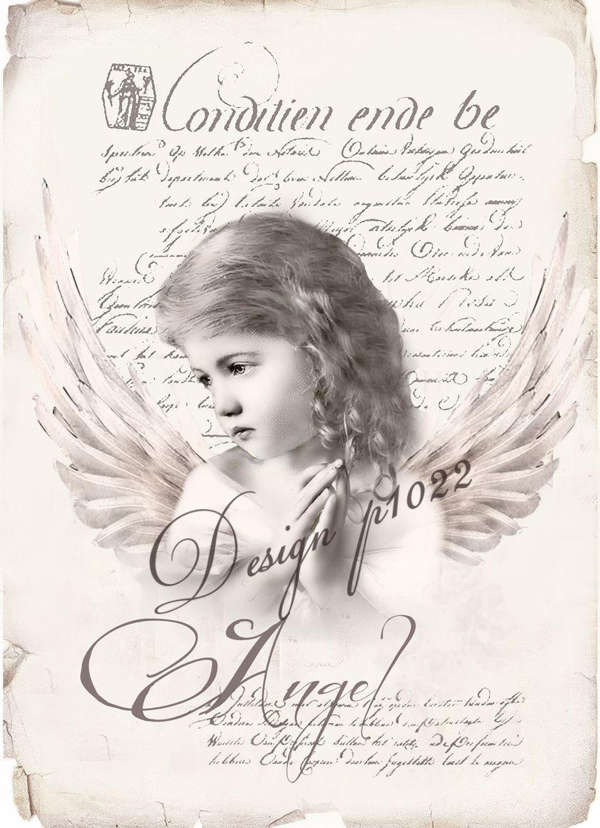 vintage angel new version digital collage p1022. Black Bedroom Furniture Sets. Home Design Ideas