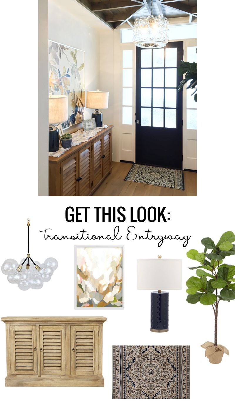 learn how to get the look of this transitional entryway with black rh pinterest com