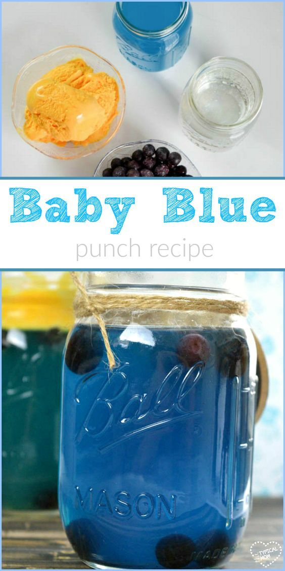 Great Blue Punch Recipe For A Baby Shower Or Party With A Blue Theme!