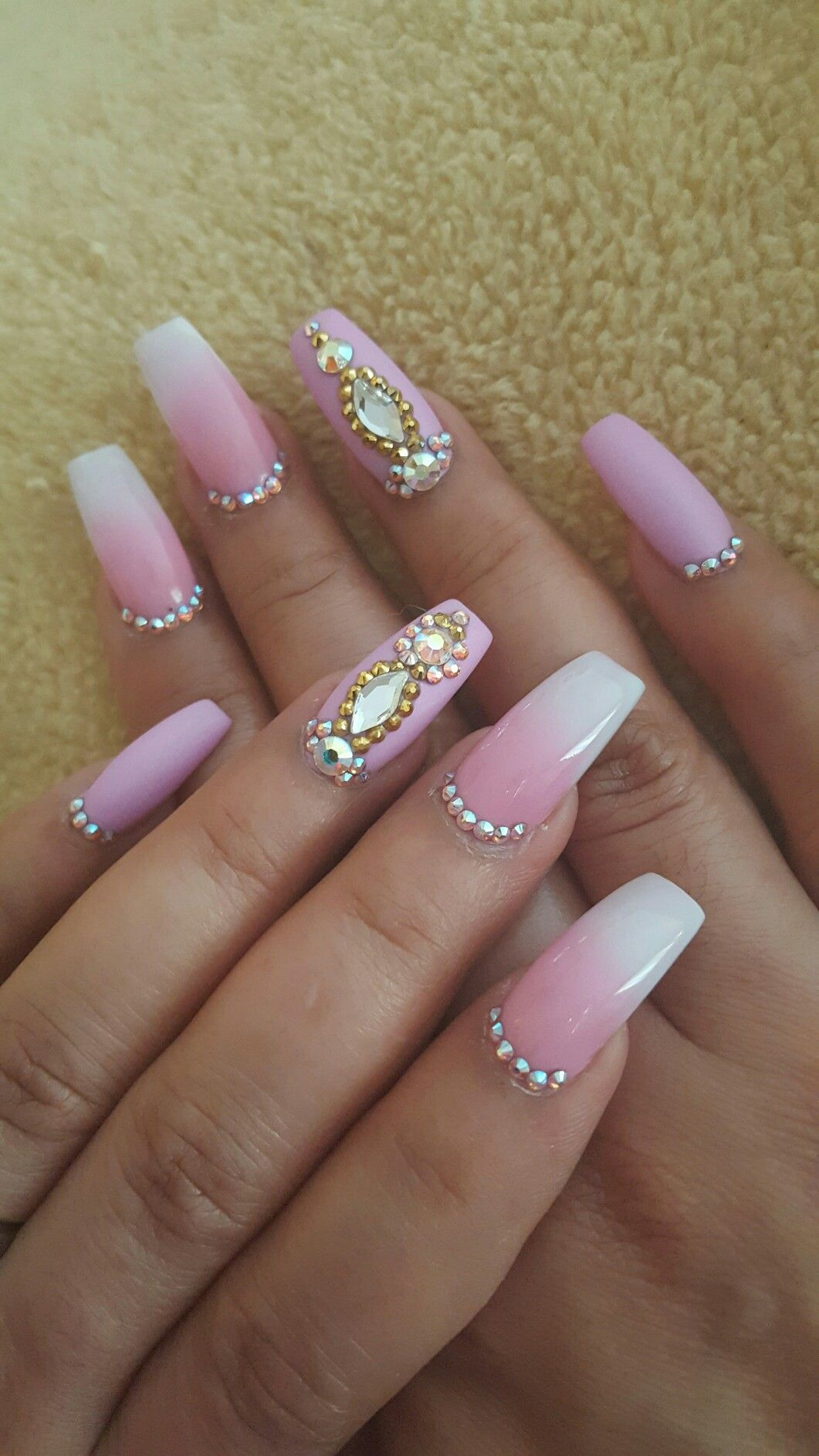 epic ombre pink and white