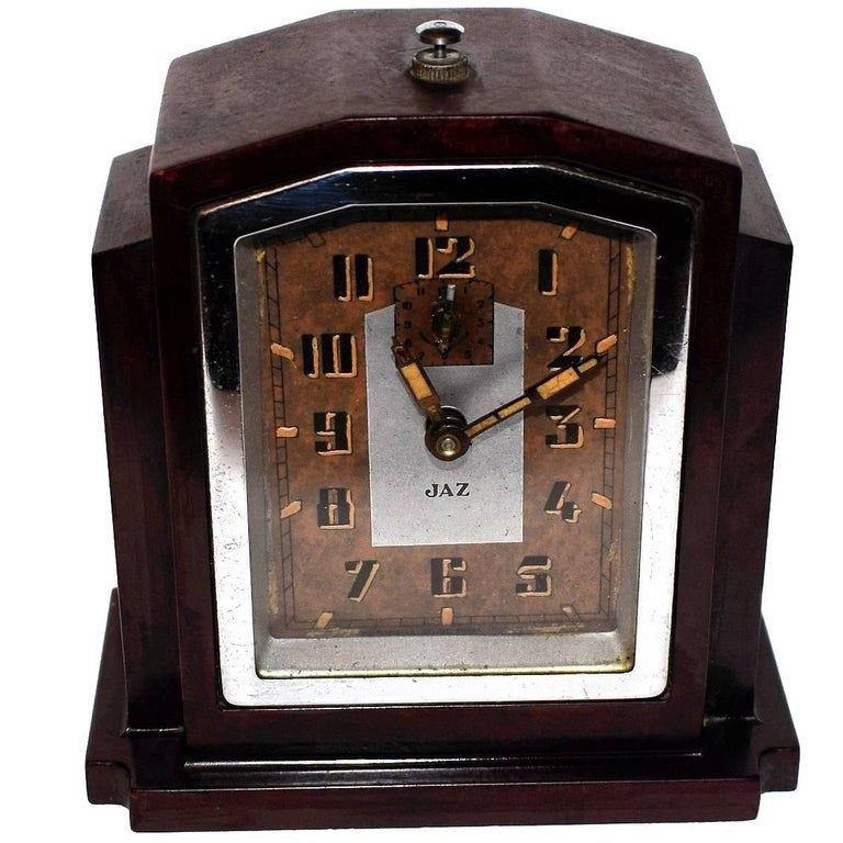 Fabulous 1930s Art Deco Bakelite Clock By Jaz In 2020 1930s Art Deco Art Deco Clock Art Deco