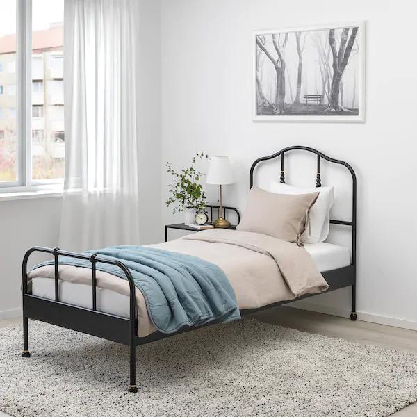 Sagstua Bed Frame Black Twin Ikea In 2020 Bed Frame Comfort Mattress Single Bed Frame