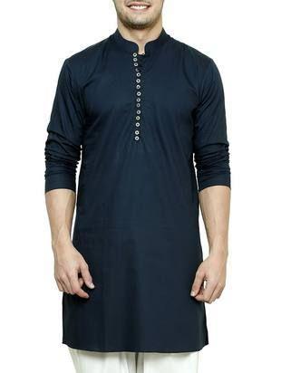 6137edc8b1 navy blue cotton kurta - Online Shopping for Kurtas Mens Indian Wear, Mens  Ethnic Wear