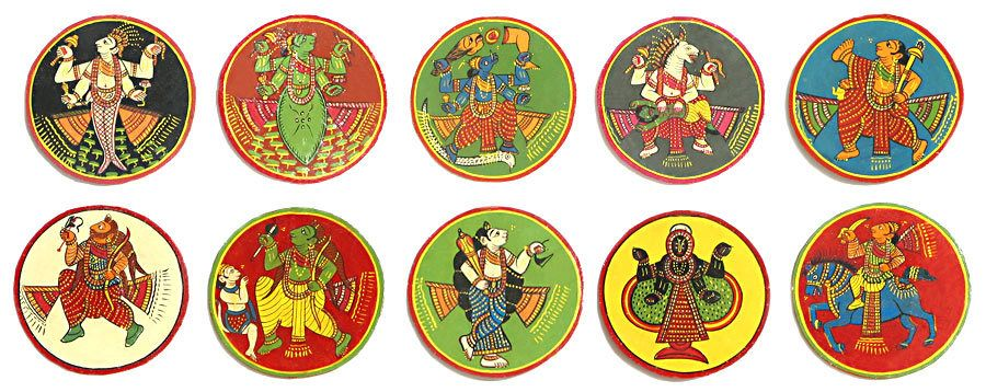 Resultado de imagen para Dasavatara Ganjifa