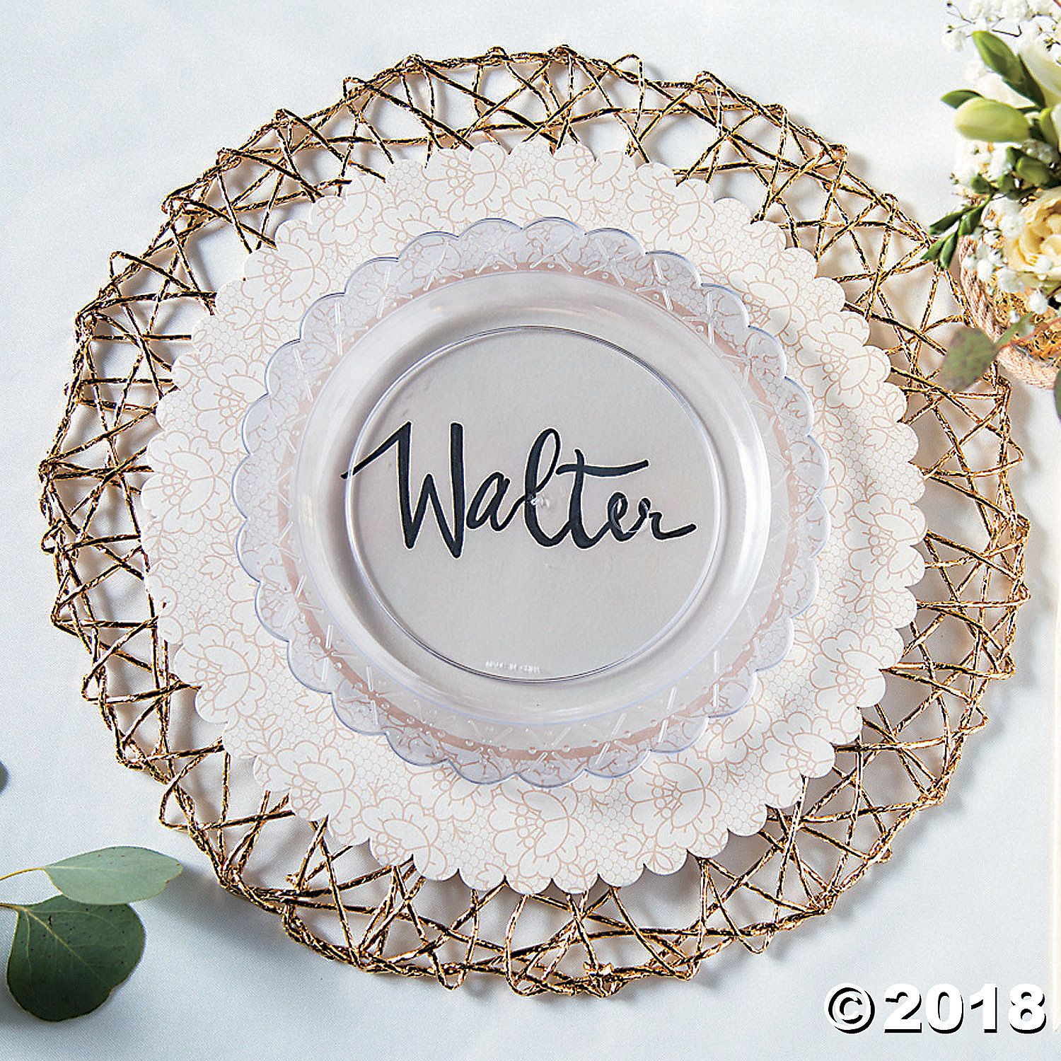 Elevate Any Table Setting With These Shimmering Gold Placemats Perfect For Wedding Reception Supplies Or An A Lace Placemats Shabby Chic Diy Shabby Chic Decor