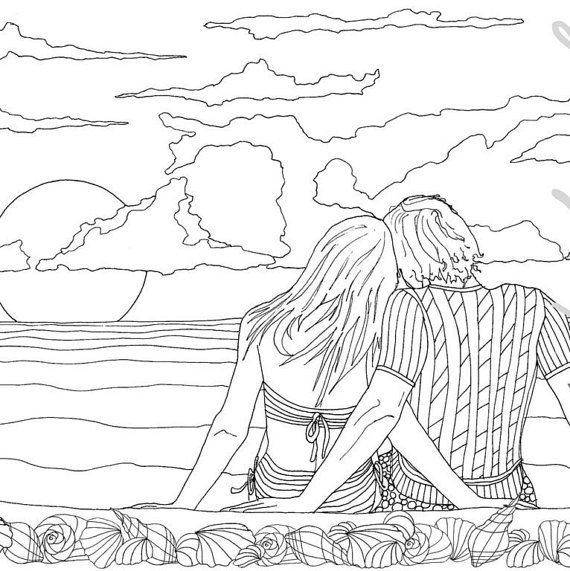 Cute Anime Couple Coloring Pages