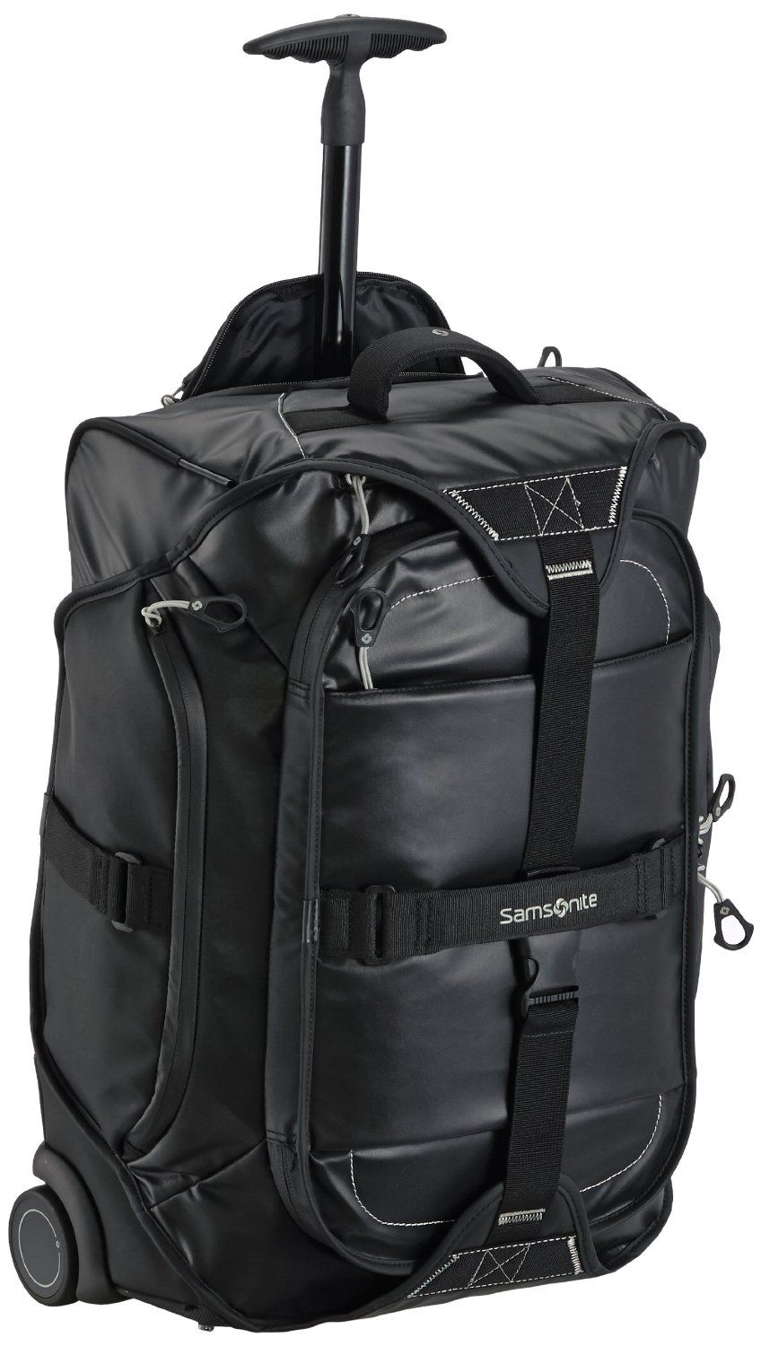 b7d399ce2041 Samsonite Paradiver Duffle On Wheels 55CM Backpack -Black - IATA Cabin  Size  Amazon.co.uk  Luggage