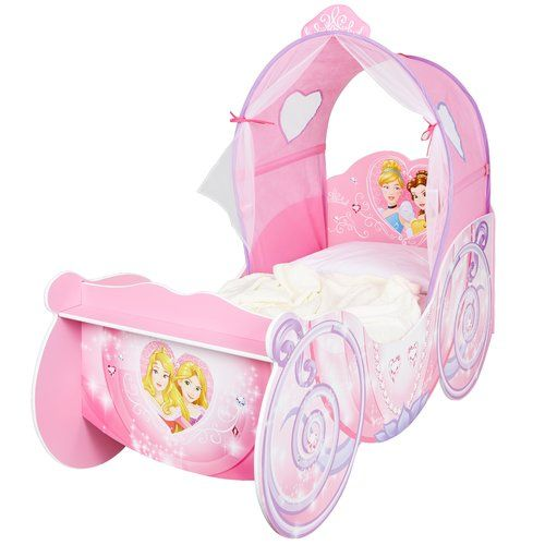 Carriage Toddler Bed With Light Up Canopy Disney Princess