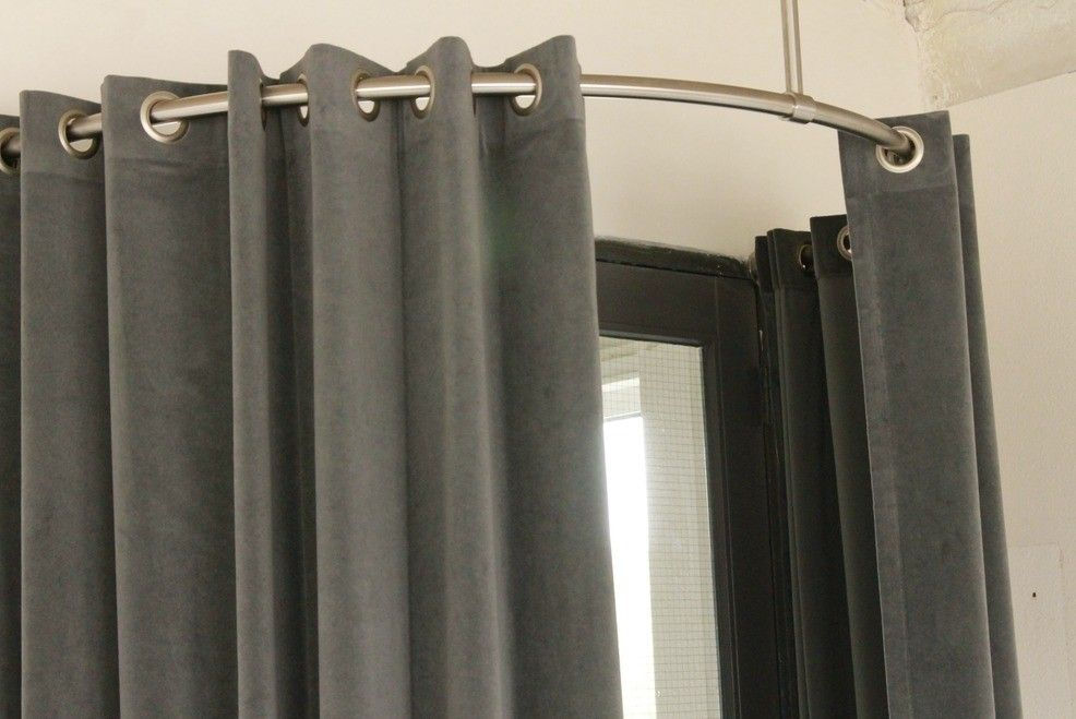 Gordijnroede rvs 28mm gebogen xxl design horeca hal pinterest curtain rails and ground floor - Hal ingang ontwerp ...
