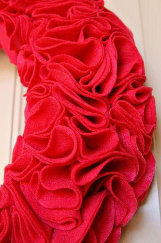 Ruffle Wreath - HOW TO