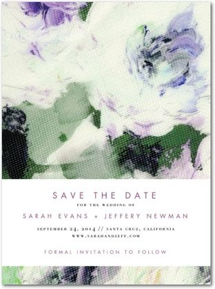 Breathtaking Blossoms Signature White Save the Date Cards