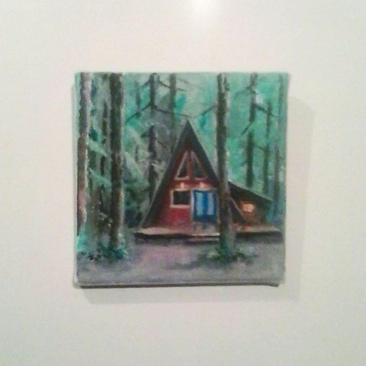 """Gouache painting """"6 x 6 canvas."""