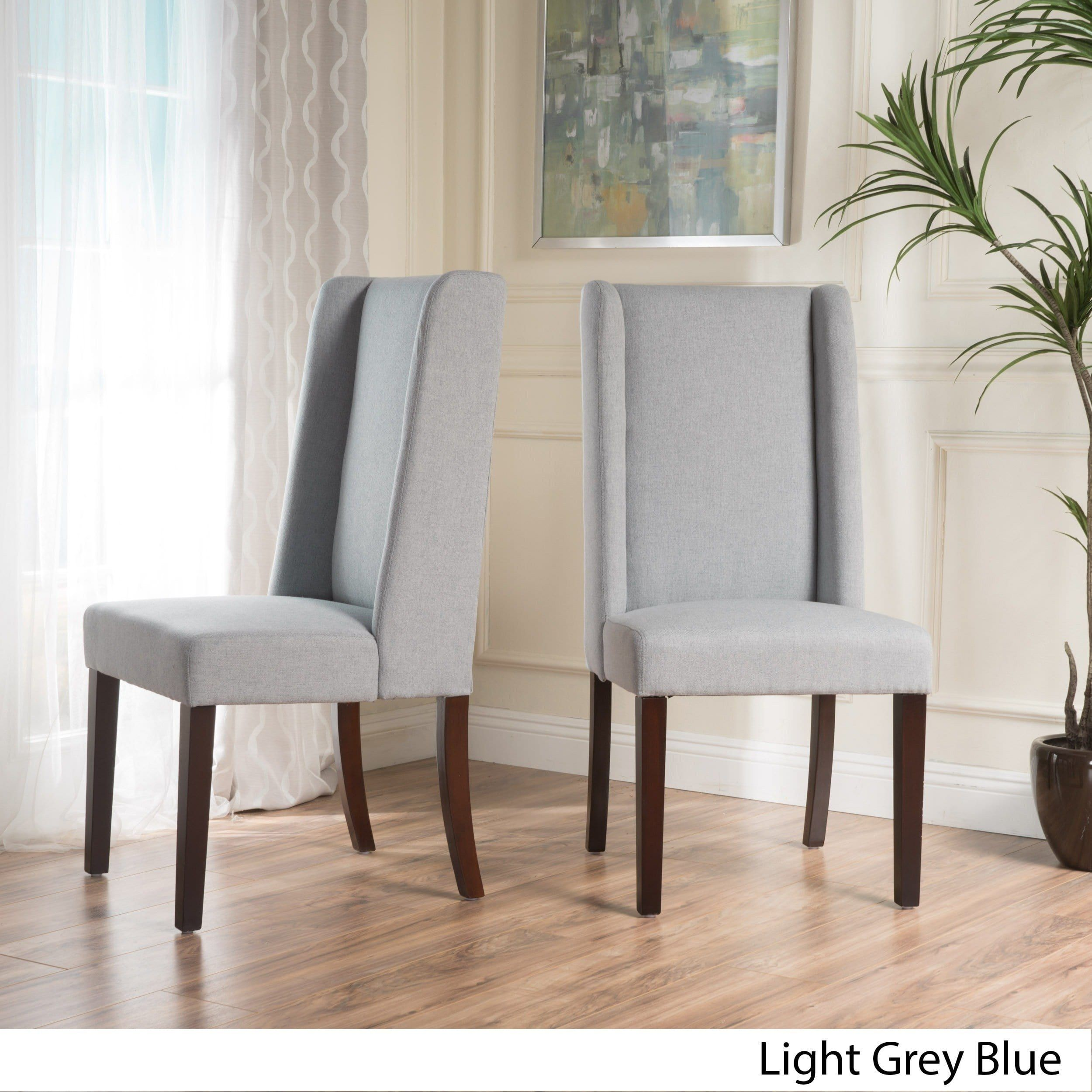 rory wing back fabric dining chair set of 2 by christopher knight rh pinterest com