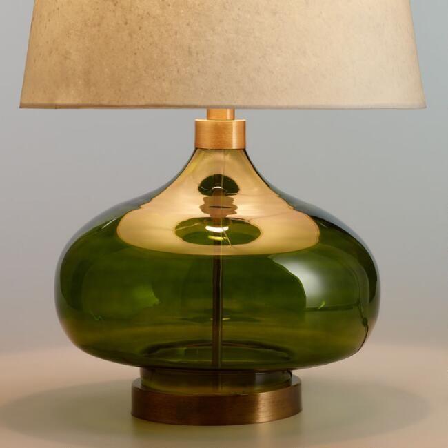 green glass teardrop halsey table lamp base by world market home rh pinterest com