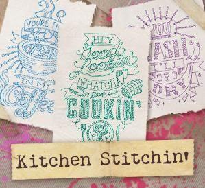 kitchen stitchin design pack image machine embroidery rh pinterest com