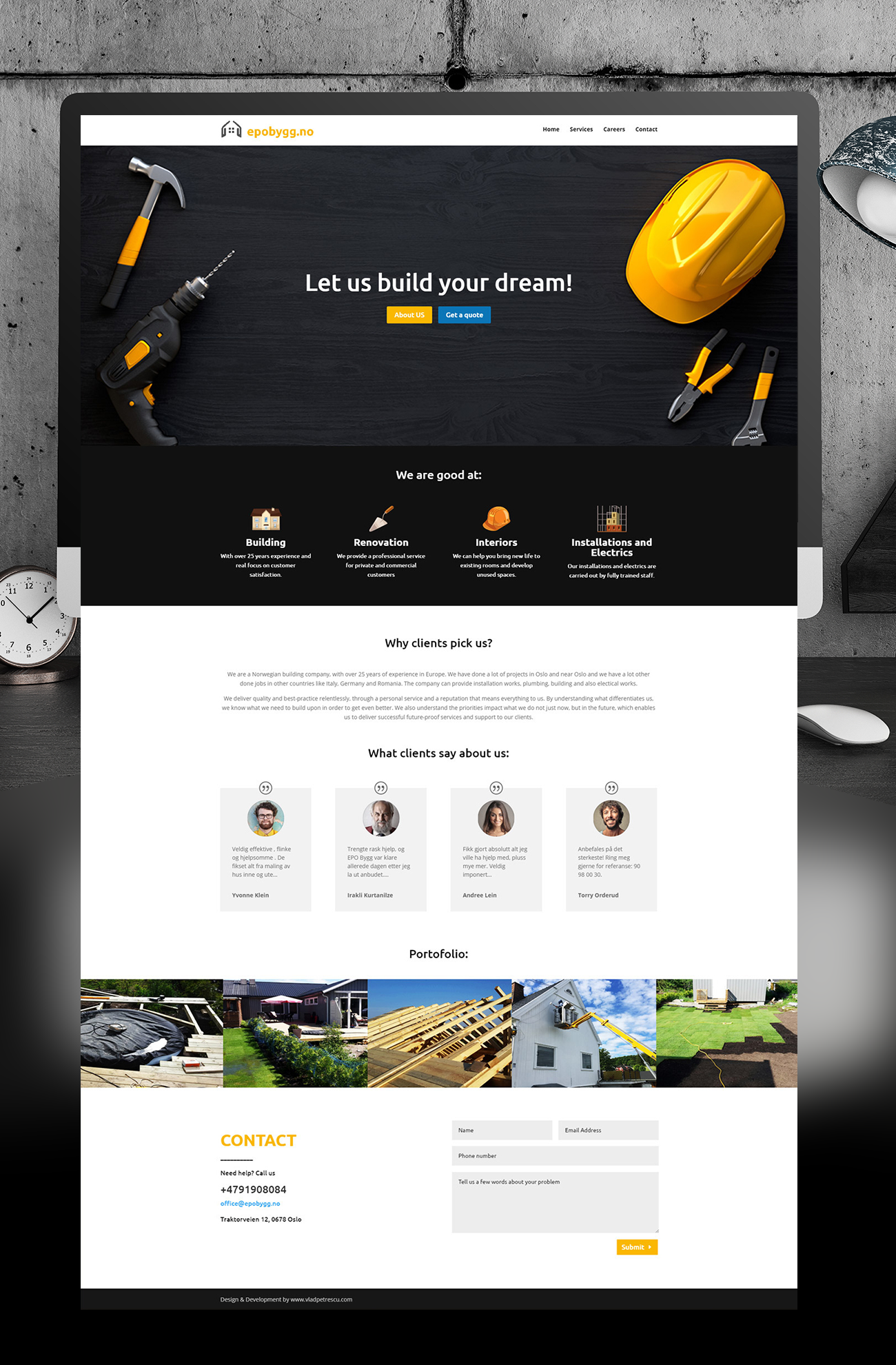 Construction website design | Web and digital design
