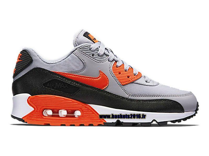 1adb882482e Boutique Officielle Nike Air Max 90 Essential Chaussures De BasketBall Pour  Femme Orange - Noir -