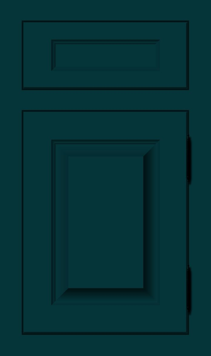 Blue Sea Deep Green Custom Color Cabinet Door Finish