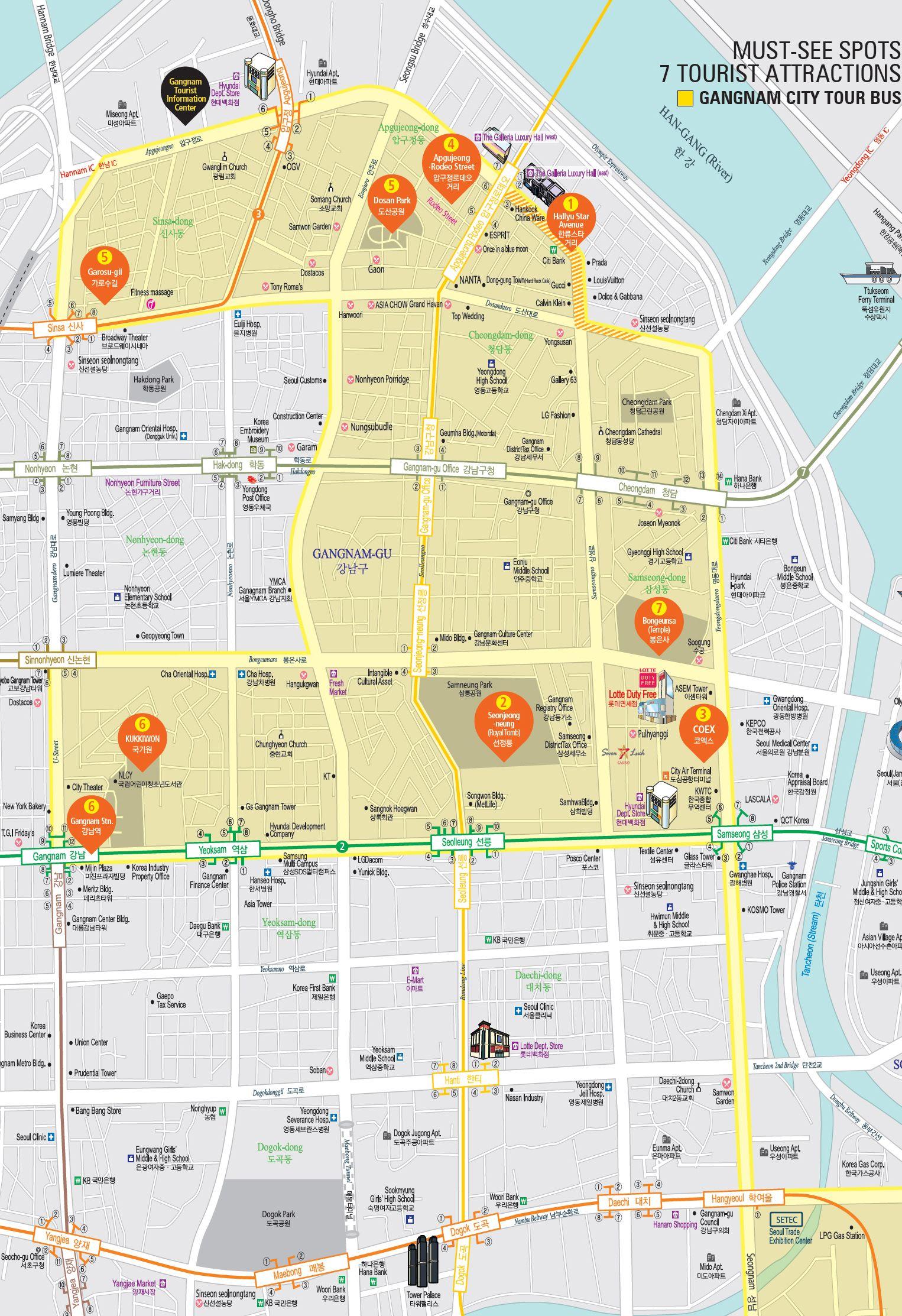 Pin by Candace Worthington on Maps of Korea   Gangnam seoul, Seoul ...