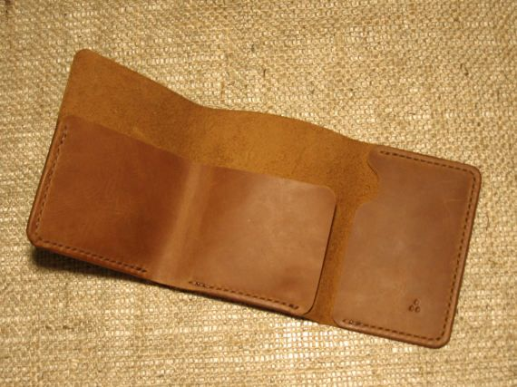 Items similar to Leather wallet INHUL brandy | Wallet | Leather wallet | Mens wallet | Mens leather wallet | Sleek wallet | Simple leather wallet | Gift on Etsy