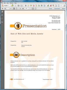 Selling A Web Site And Digital Assets Proposal  Create Your Own