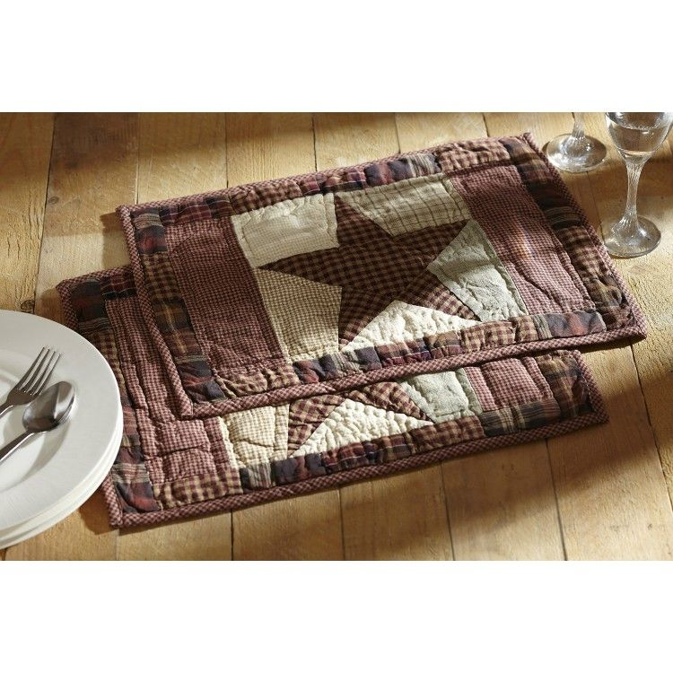 Abilene Star Quilted Placemat Placemat sets, Farmhouse