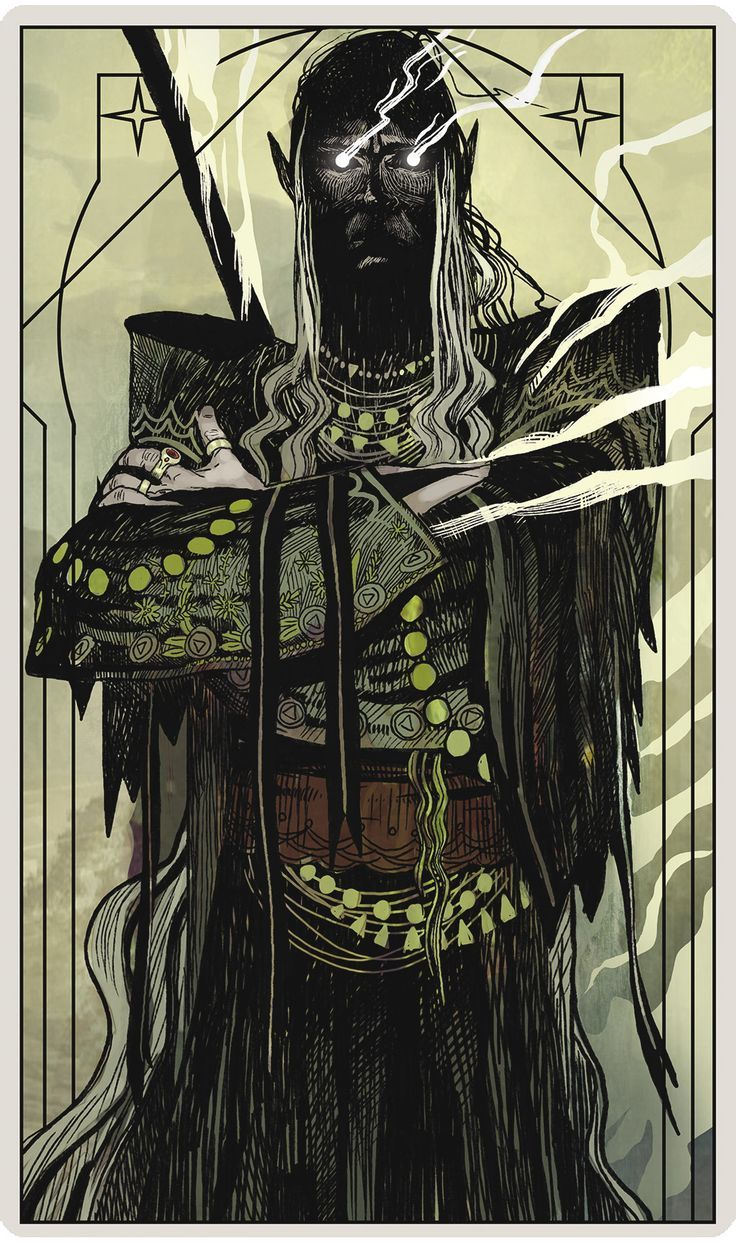 Dragon Age Warrior Tarot Card