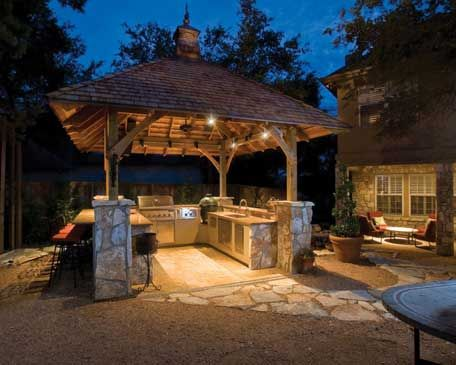 Outdoor Entertainment Designs have you ever cooked out in outdoor gazebo kitchen ? | singers
