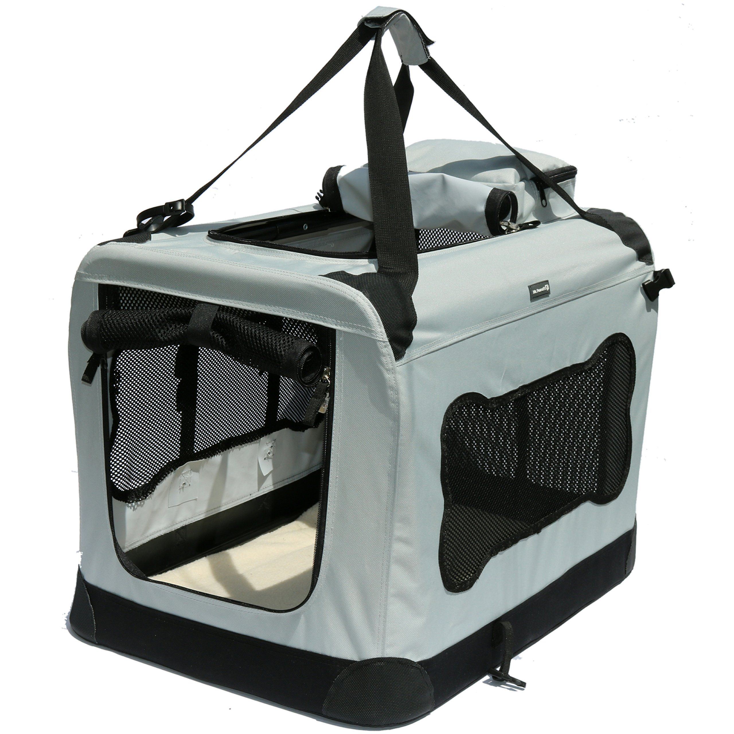 Soft Sided Pet Carrier With Steel Frame Dog House Style Portable