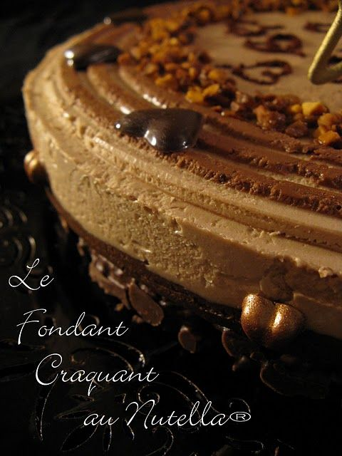 le fondant craquant au nutella tarte g teau au chocolat nutella fondant et desserts. Black Bedroom Furniture Sets. Home Design Ideas