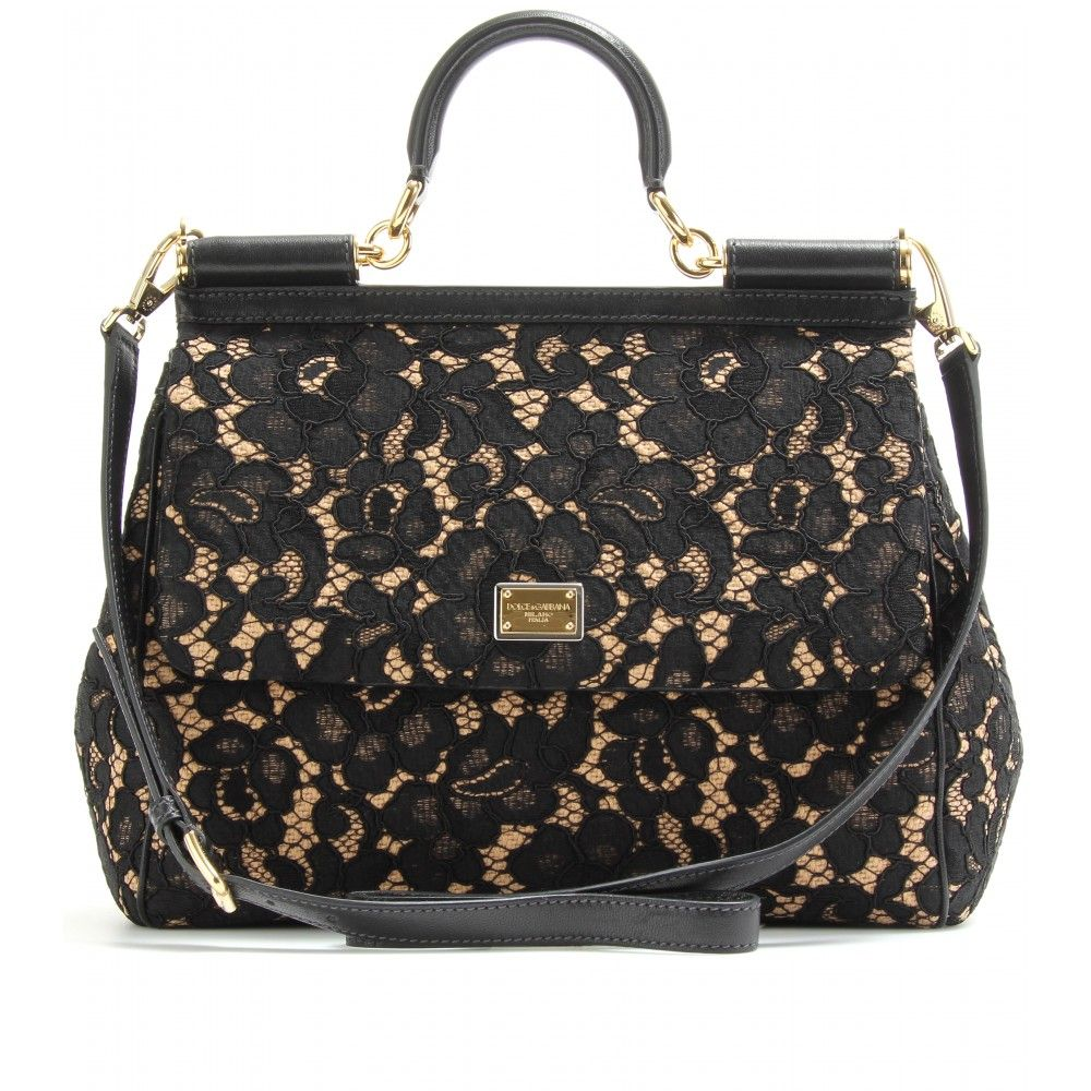 Dolce And Gabbana Lace Handbag Want This In Black White Please