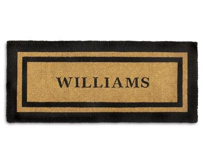 I love the Personalized Picture Frame Coir Doormat, Double Door, Black on Williams-Sonoma.com
