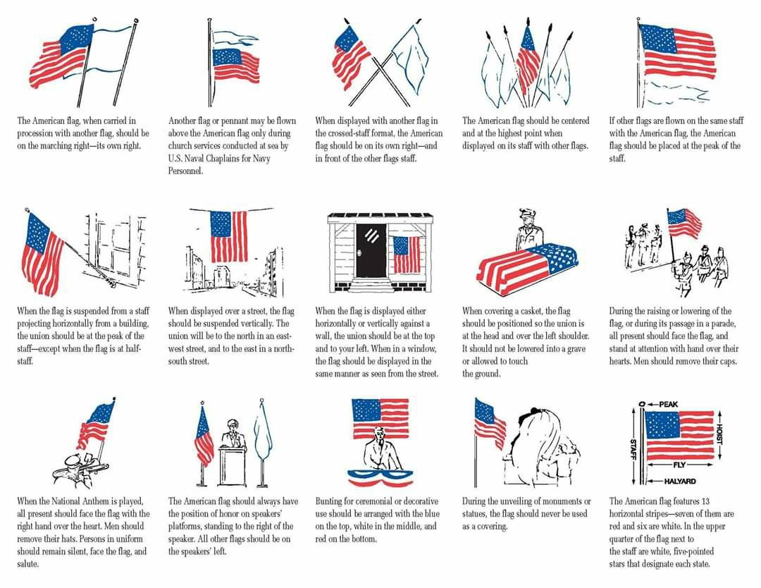 Pin By Berdie Creech On Political Patriotic Memes In 2020 Flag Protocol Flag Display Flag Rules