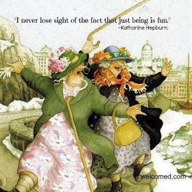 Just Being Is Fun Katherine Hepburn Inge Look Aunties Grannies