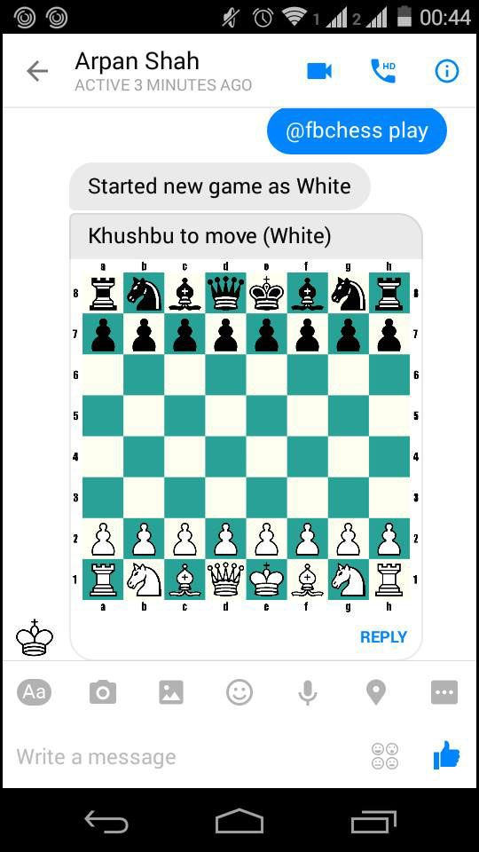 fbchess play to play chess in Facebook Messenger   Apps and