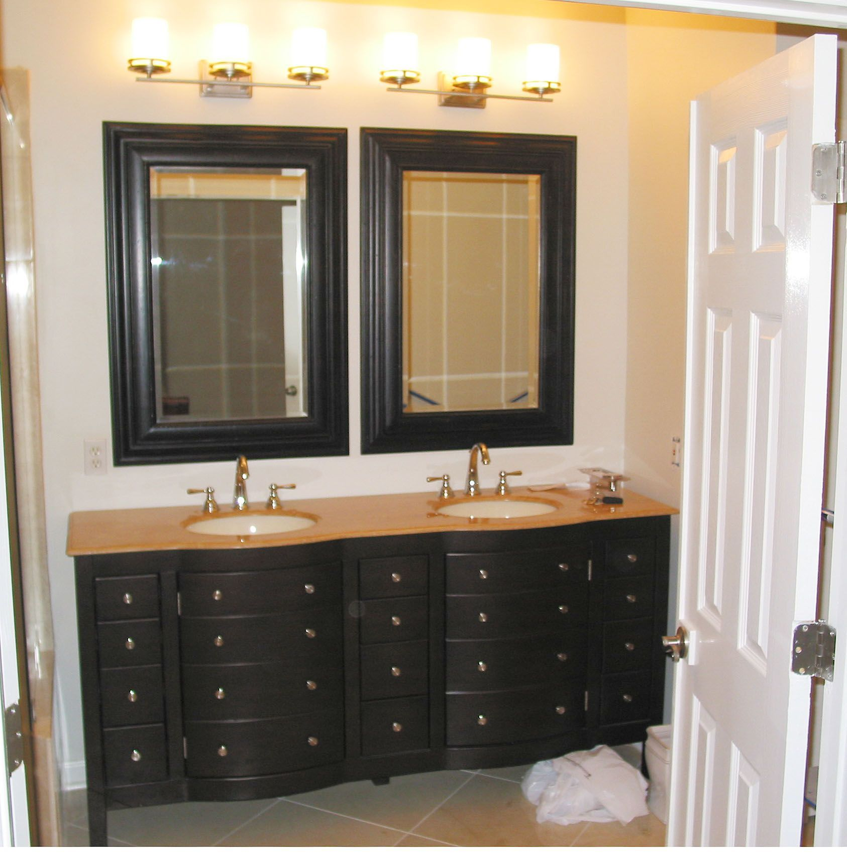 bathroom with makeup vanity ideas offer the perfect combination of rh pinterest com