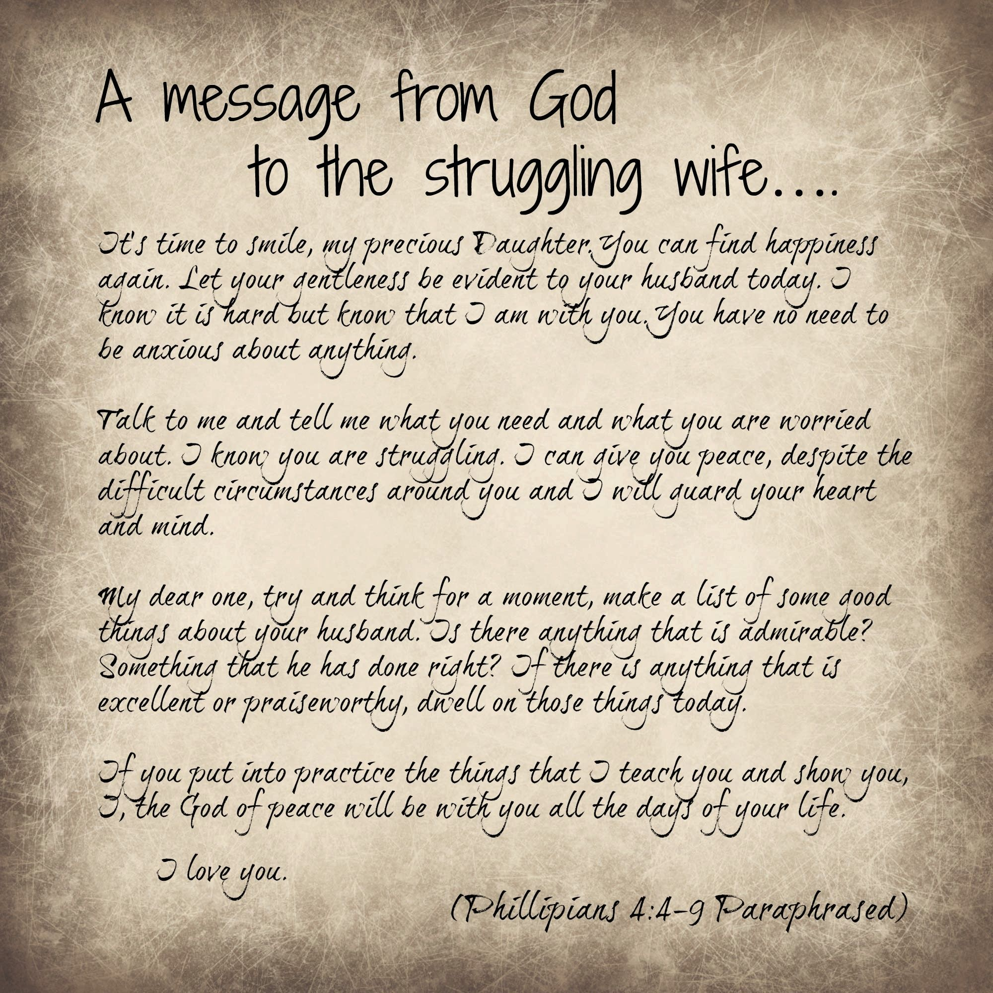 Bible verses about marriage struggles