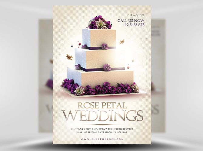wedding flyer template 1 design pinterest graphiste