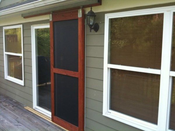 24 Awesome Diy Screen Door Ideas To Build New Or Upcycle The Old Sliding Patio Screen Door Patio Screen Door Diy Screen Door