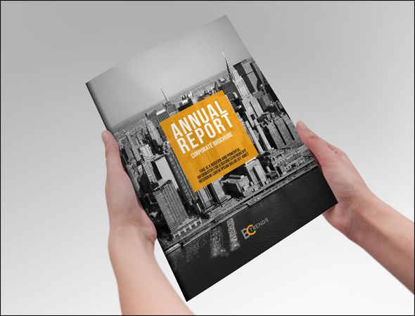 brochure template indesign